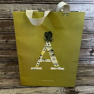 Anthropologie Store holiday paper gift bag